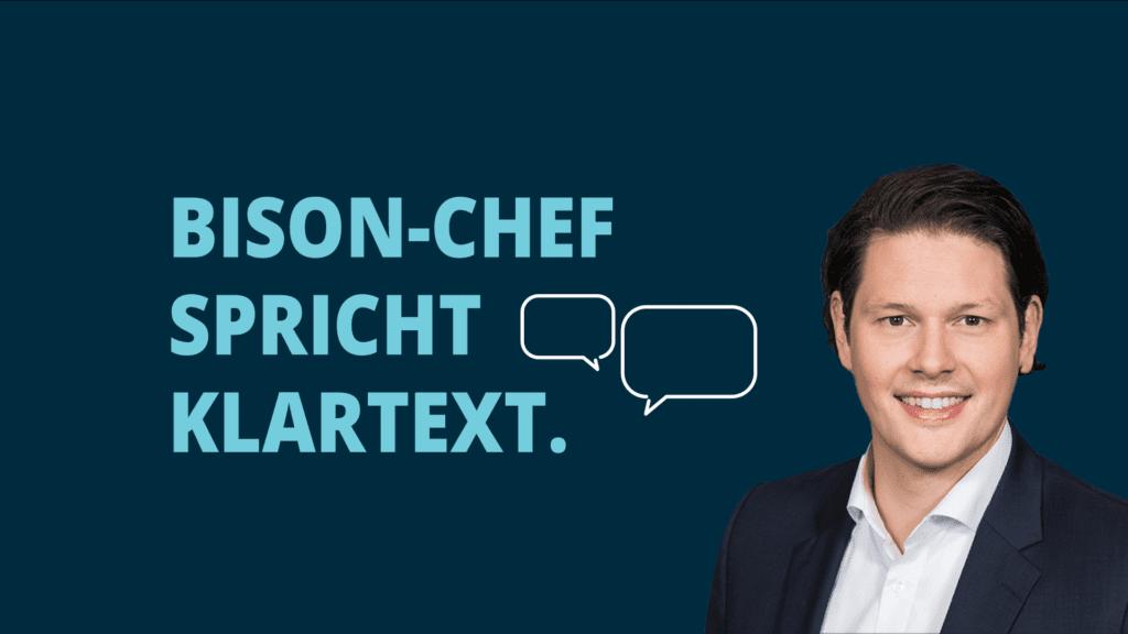 BISON App-Chef Dr. Ulli Spankowski spricht im Video-Interview Klartext.