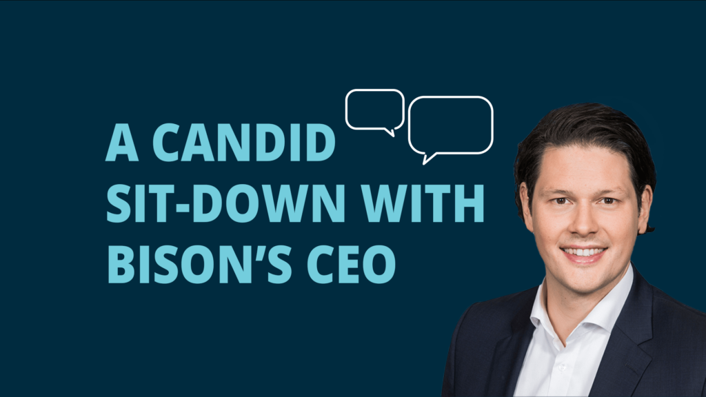 Blog post image for video interview: a candid sit-down with BISON's CEO.