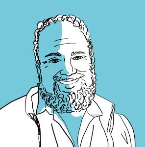 David Chaum war Gründer des Unternehmens DigiCash und Erfinder der digitalen Währung eCash. Illustration im Blogbeitrag zur Geschihcte der Kryptowährungen.