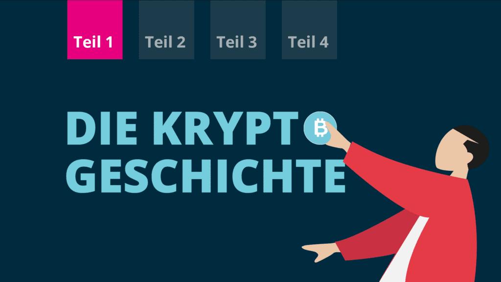 Blogtitelbild zur Geschichte der Kryptowährungen im BISON Blog.