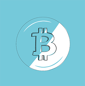 Die dunkle Seite des Bitcoin - grafische Darstellung im Blogbeitrag zur Geschichte der Kryptowährungen.