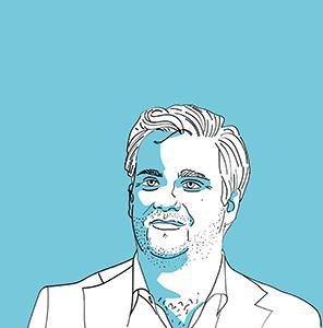 Illustration von Mark Karpelès im Blogbeitrag zur Geschichte der Kryptowährungen. Er war Inhaber der Kryptobörse Mt. Gox und großer Bitcoin Fan.
