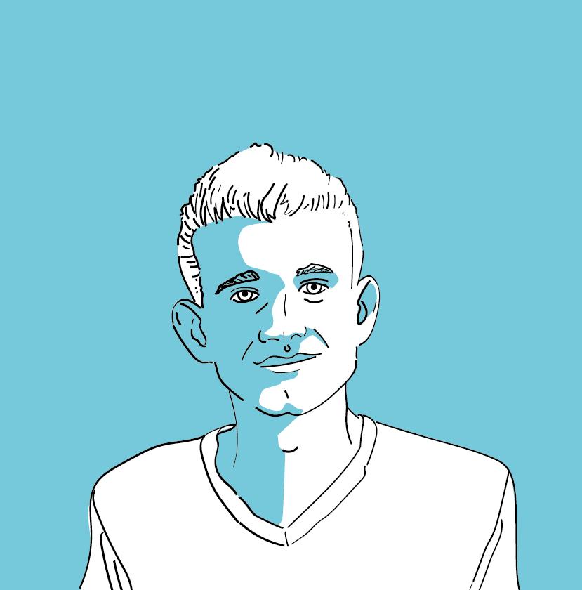 Illustration des Ethereum-Gründers Vitalik Buterin im Blogbeitrag zur Geschichte der Kryptowährungen.