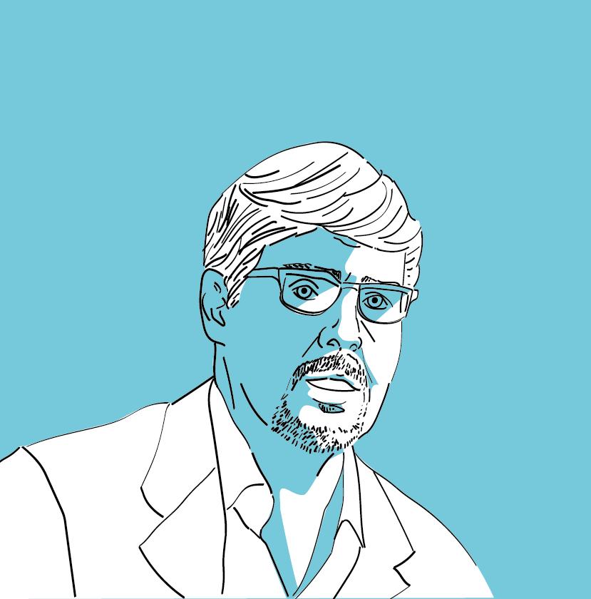 Illustration des Big Blockers Gavin Andresens im Blogbeitrag zur Geschichte der Kryptowährungen.