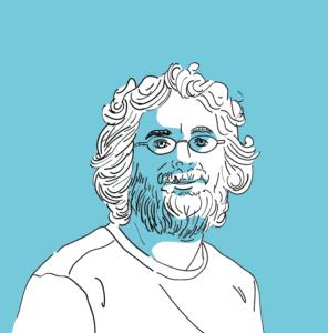 """Illustration des """"SegWit"""" Erfinders Pieter Wuille im Blogbeitrag zur Geschichte der Kryptowährungen."""