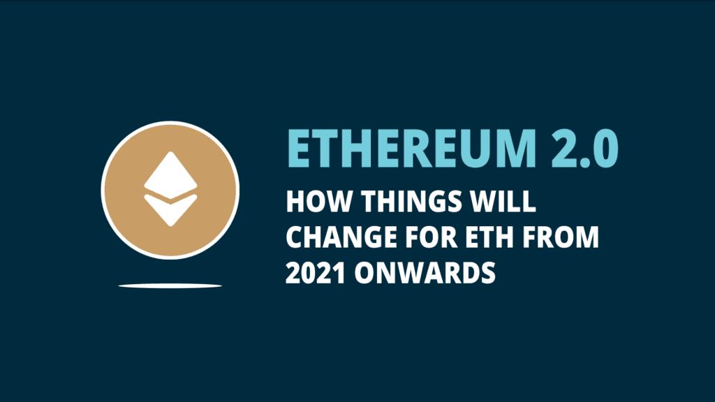 """BISON App Blog   Header of blog post """"ethereum 2.0""""."""