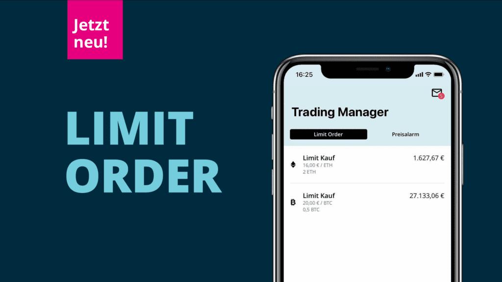 Blogtitelbild für den Beitrag zur Limit Order | Screen mit Trading Manager