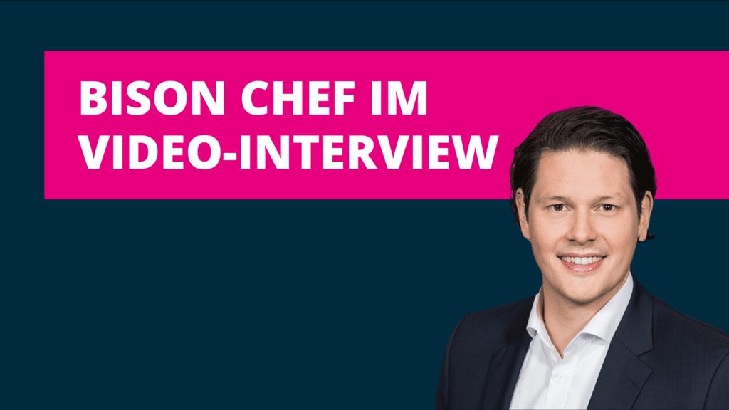 Video-Interview mit BISON Chef Dr. Ulli Spankowski im Blog der BISON App.